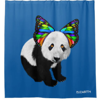 Psychedelic Cute Cool Panda With Butterfly Ears