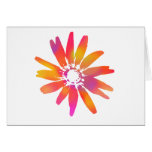 Psychedelic Daisy Greeting Cards