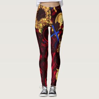 psychedelic daisy womens leggings