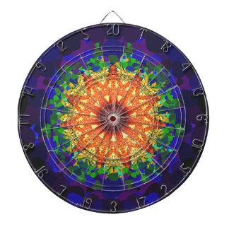 Psychedelic design dart boards
