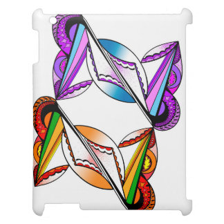 Psychedelic Design on Apple iPad Glossy White Case iPad Cover