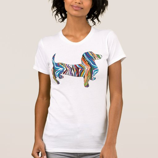 Psychedelic Doxie Dachshund Tees