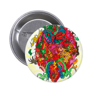 Psychedelic Dragon 2 Inch Round Button