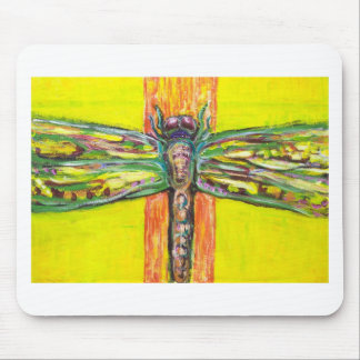 Psychedelic Dragonfly in Paradise Mouse Pad