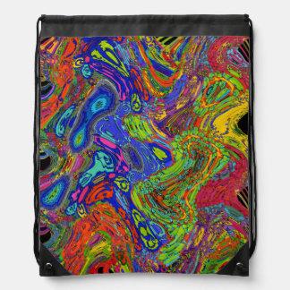 Psychedelic Drawstring Bag
