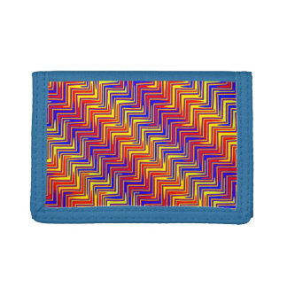 psychedelic edge trifold wallet