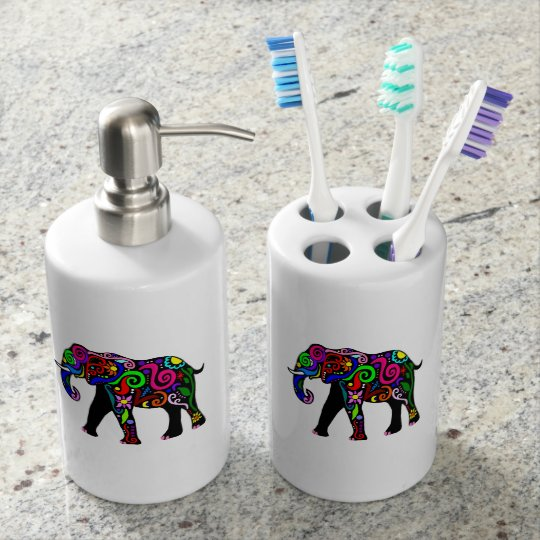 Psychedelic Elephant Bath Set