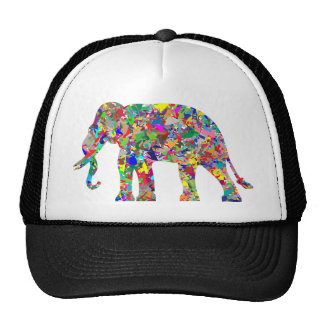 Psychedelic Elephant Trucker Hat