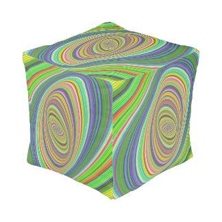 Psychedelic ellipse pouf