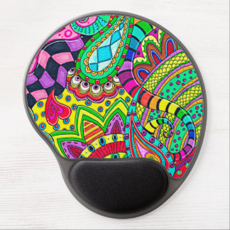 Psychedelic Ergonomic Wrist Support Gel Mousepad