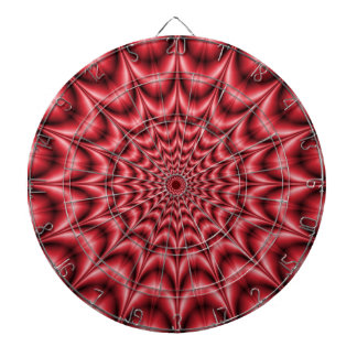 Psychedelic Explosion In Red Dartboard