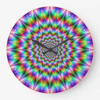 Psychedelic Explosion Wall Clock