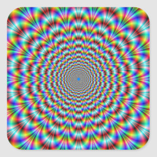 Psychedelic Eye Bender Square Sticker