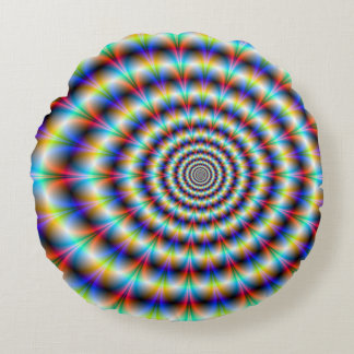 Psychedelic Eye Round Pillow