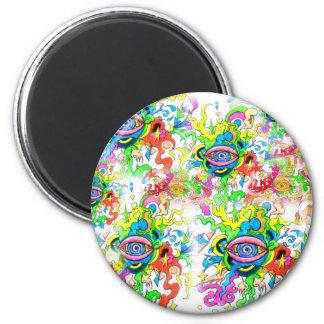 Psychedelic Eyes Magnet