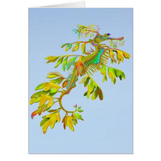Psychedelic Fantasy Leafy Sea Dragon Card