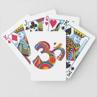 Psychedelic Fat Om Bicycle Playing Cards