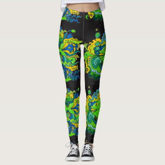 Psychedelic Fish Leggings