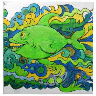 Psychedelic Fish Napkin