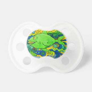 Psychedelic Fish Pacifier