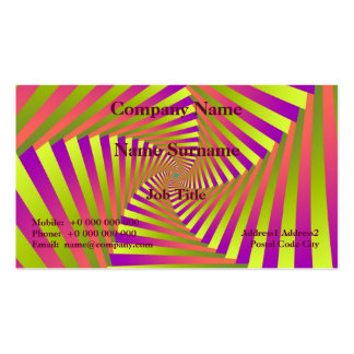 Psychedelic Five Arm Spiral Business Card