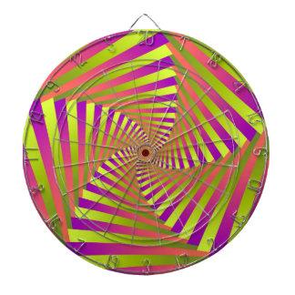 Psychedelic Five Arm Spiral Dartboard