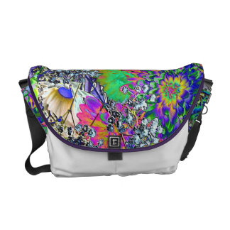 Psychedelic Floral Messenger Bags
