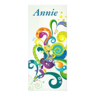 Psychedelic Floral Personalized  Bookmarks Rack Card Design