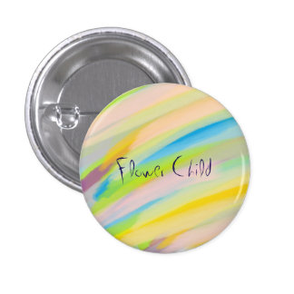 Psychedelic 'Flower Child' Button