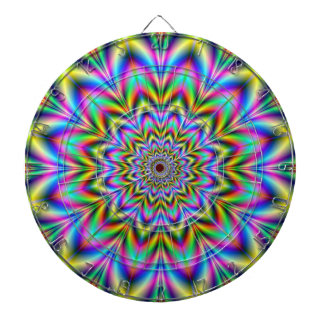 Psychedelic Flower Dartboard