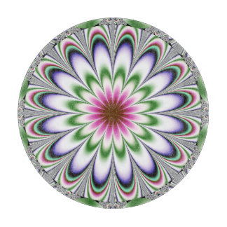 psychedelic Flower Fractal Cutting Board