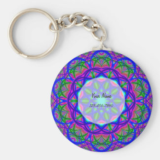 Psychedelic Flower Keychain