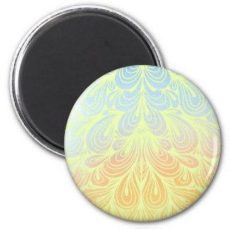 Psychedelic Flower Petals 2 Inch Round Magnet