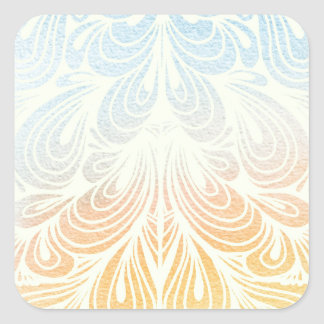 Psychedelic Flower Petals Square Sticker
