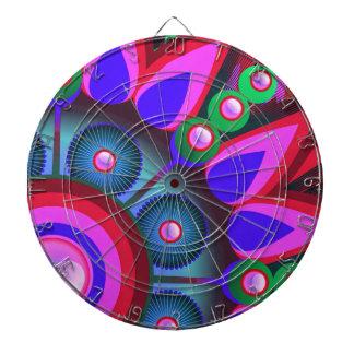 Psychedelic Flower Power Art Dartboards