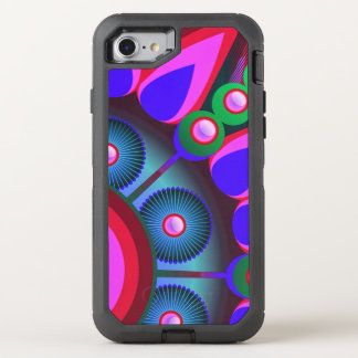 Psychedelic Flower Power Art OtterBox Defender iPhone 7 Case