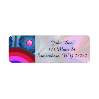 Psychedelic Flower Power Art Return Address Label