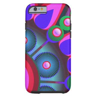 Psychedelic Flower Power Art Tough iPhone 6 Case
