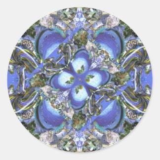 Psychedelic Flowerburst Round Sticker