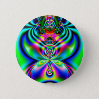 Psychedelic Flutterby 2 Inch Round Button