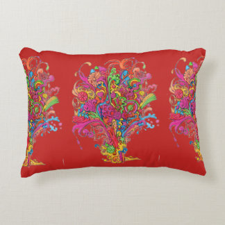 PSychedelic Fountain Decorative Pillow