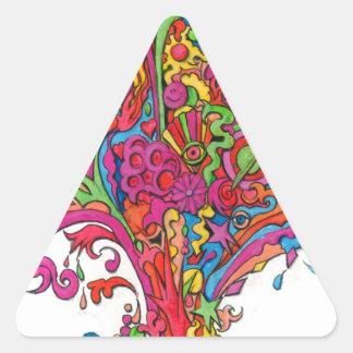 Psychedelic Fountain Triangle Sticker