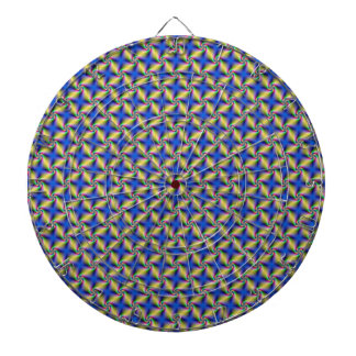 Psychedelic Four Winds Spiral tiled Dartboard