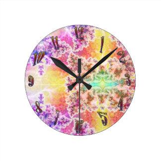 Psychedelic Fractal Art Design Clock