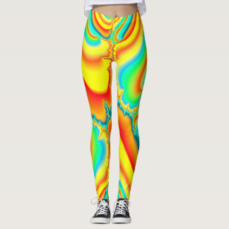 Psychedelic fractal colourful custom leggings