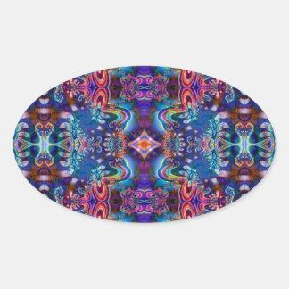 Psychedelic Fractal Design R5K4A Oval Sticker