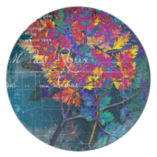 Psychedelic French Grunge Fern Plate