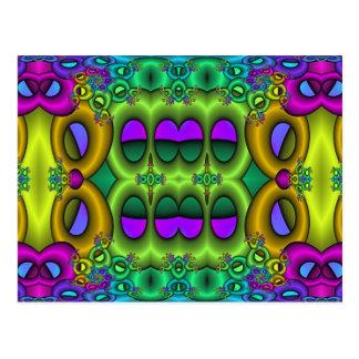 Psychedelic Fruit Loops Postcard