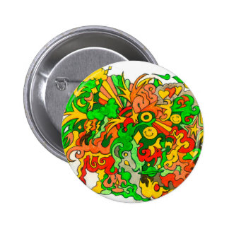Psychedelic Fun 2 Inch Round Button