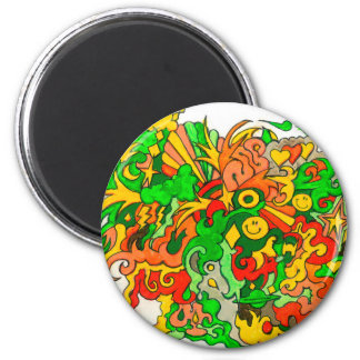 Psychedelic Fun Magnet